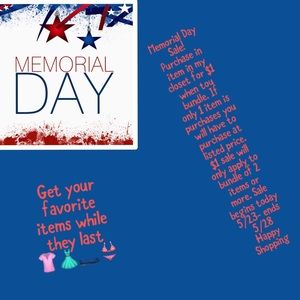 Other - Memorial Day sale